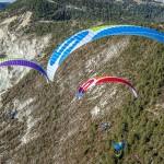 aile de parapente decollage