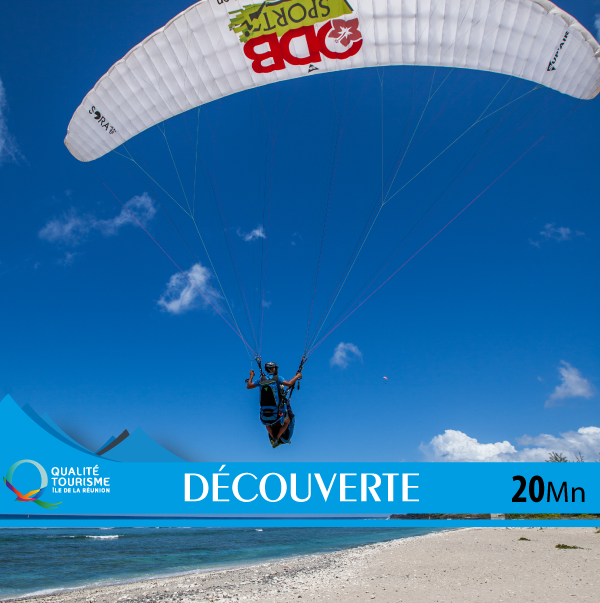vol biplace atterrissage saint leu parapente