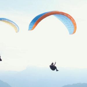 aile de parapente en vol